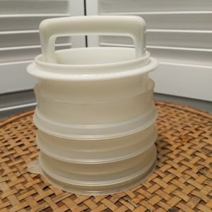 Vintage Tupperware Hamburger Press Set